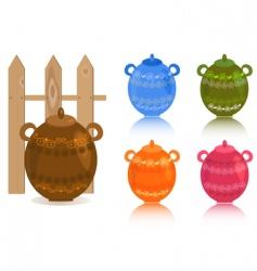 rustic glassware vector image
