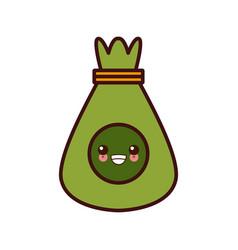 Sack bag symbol kawaii cute cartoon vector