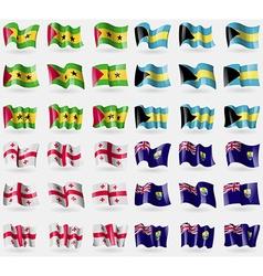 Sao Tome and Principe Bahamas Georgia Saint Helena vector image