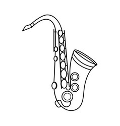 Saxophone isolated icon vector