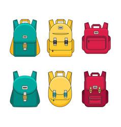 schoolbag flat bag for school vector image