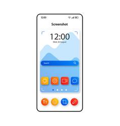 Screenshot making technology smartphone interface vector