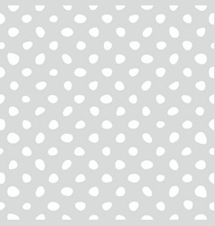 Seamless pattern with tile white polka dots vector