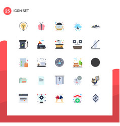 Set 25 modern ui icons symbols signs vector