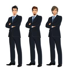 set business men vector image