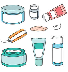 Set of topical cosmetic and topical medicine vector