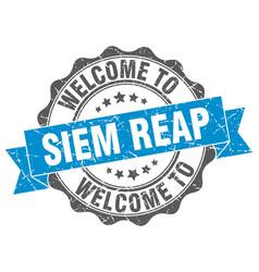 siem reap round ribbon seal vector image