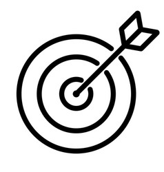 simple line icon goal target business sign eps10 vector image