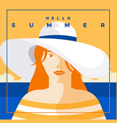 summer background flat design summer time 6 vector image