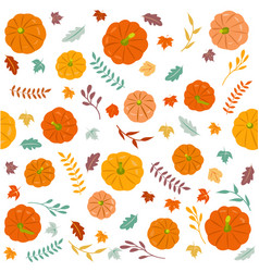 Thanksgiving autumn seamless background vector