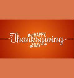 Thanksgiving line vintage lettering background vector