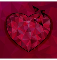 Triangles heart background vector