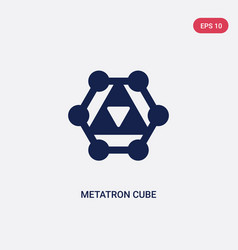 Two color metatron cube icon from geometry vector