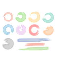 watercolor brushes set vector image