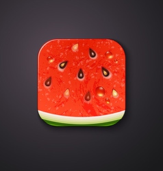Watermelon texture icon stylized like mobile app vector image