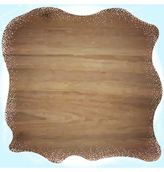 Wooden Background With Snowdrifts vector