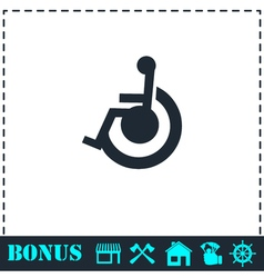 Disabled icon flat vector
