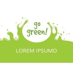 Go green organic natural template vector image