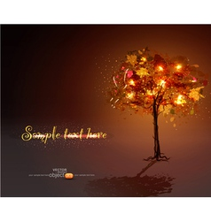luminous hand-painted tree vector image vector image