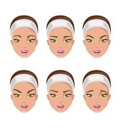 Type of eyebrows vector image