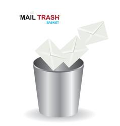 Basket mail trash vector image vector image