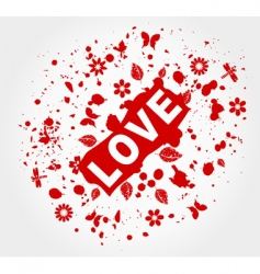 love abstraction vector image vector image