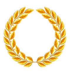 Realistic gold laurel wreath for vector
