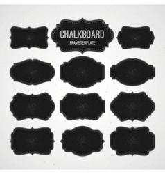 Set of Chalkboard Frames and Labels vector image