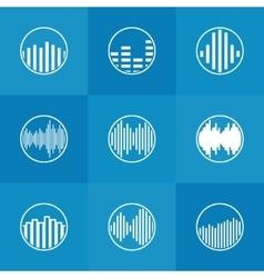 Soundwave icon or logo vector image vector image