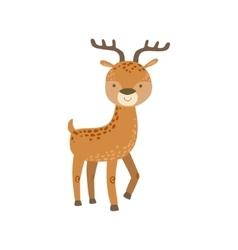 Brown Spotter Deer With Antlers Stading vector image
