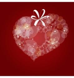 decorative heart vector image vector image