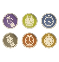 Different clocks icons vector image