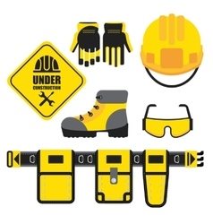 set of construction equipment vector image vector image