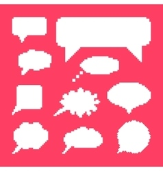 white speech bubbles set on pink background vector image vector image