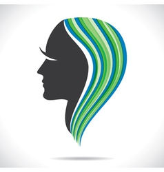 beautiful women with colorful hair style vector image vector image