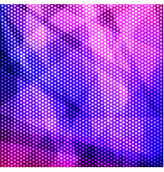 colorful purple background of circles vector image