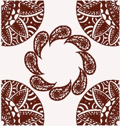 flowers and paisley pattern decorative with copy s vector image vector image