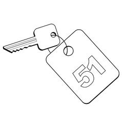 key of hotel room vector image