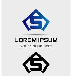 Letter S logo icon design template vector image