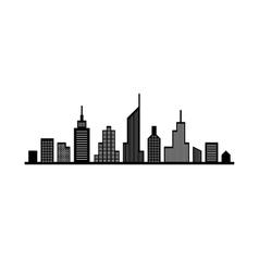 Line cityscape design vector image