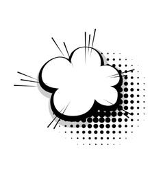 Template comic speech cloud line bubble vector image vector image