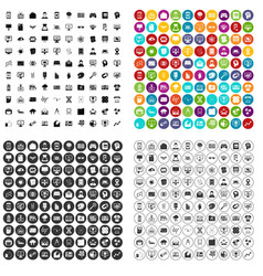 100 data visualization icons set variant vector