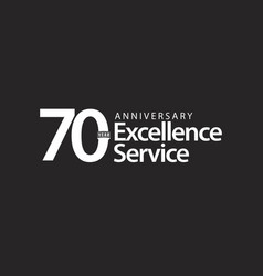 70 year anniversary excellence service template vector