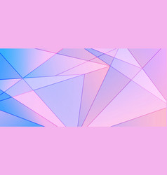 Abstract blue and pink gradient polygonal pattern vector