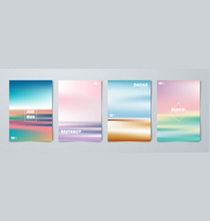 Abstract colorful brochure poster artwork vector