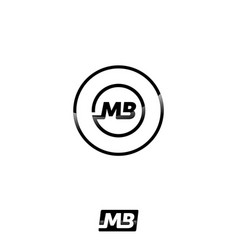 abstract mb letter icon concept design vector image