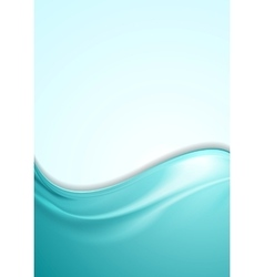 Abstract smooth wavy turquoise flyer design vector