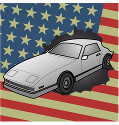 american car vector image