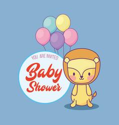 baby shower design vector image
