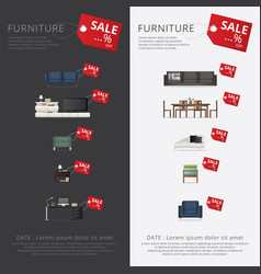 Banner furniture sale advertisement flayers vector